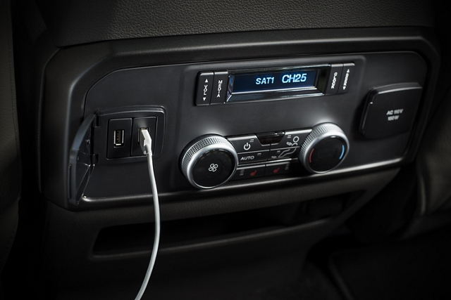 2019 Expedition featuring six U S B ports and centre console wireless charger