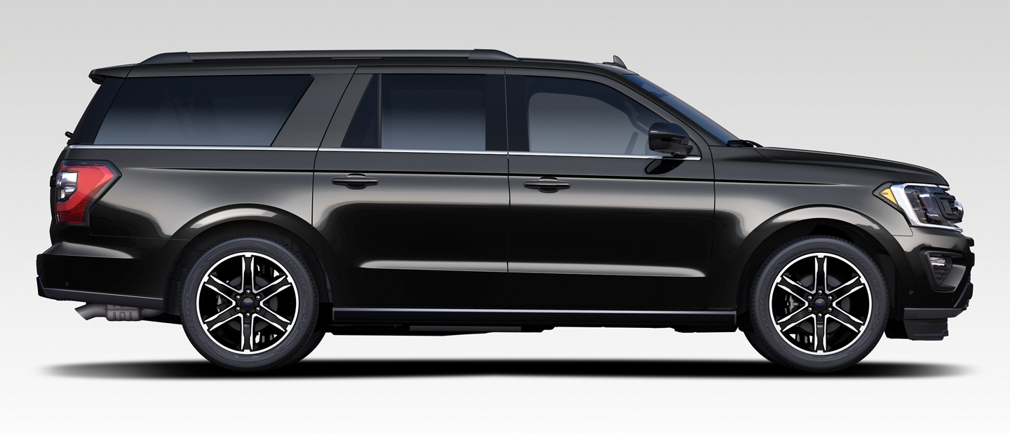 2020 Ford Expedition stealth edition side profile view