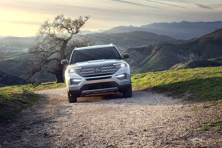 A 2020 Explorer Limited at the top of a mountain