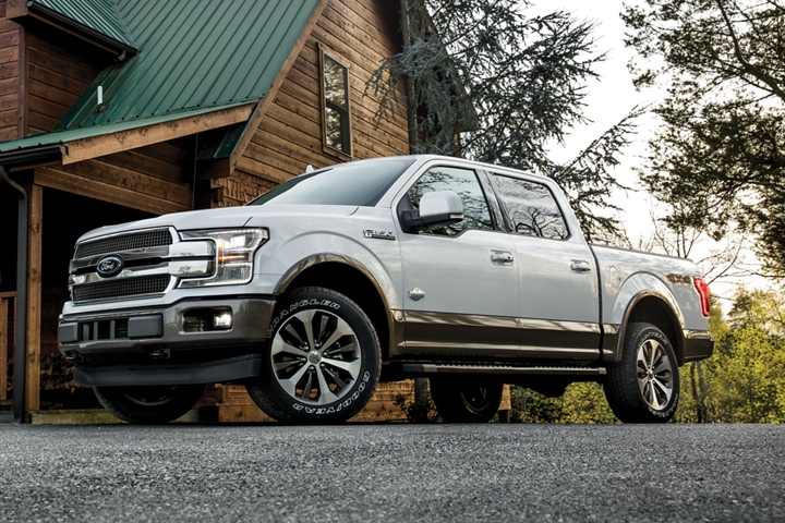2020 Ford F 1 50 King Ranch SuperCrew parked at cabin