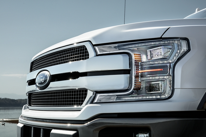 Grille of 2020 Ford F 1 50 King Ranch