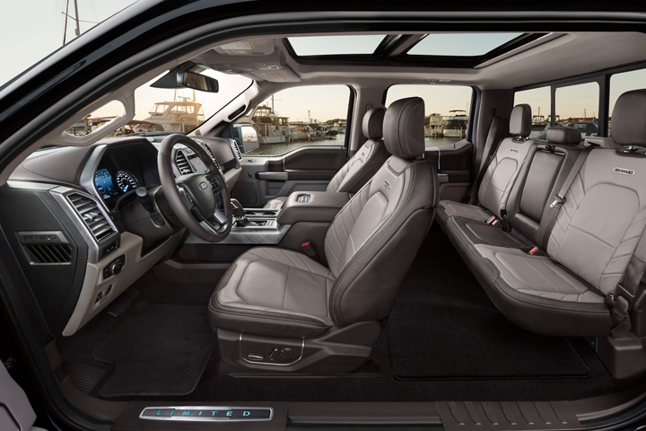 2020 Ford F 1 50 Limited interior in full leather camelback