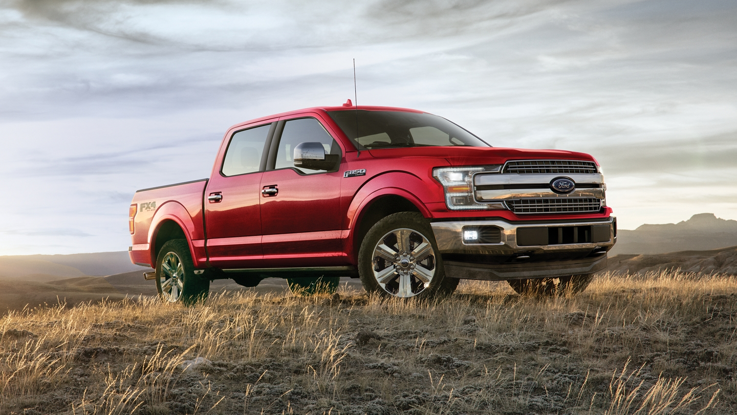 Vue de profil du Ford F-150 SuperCrew 2020