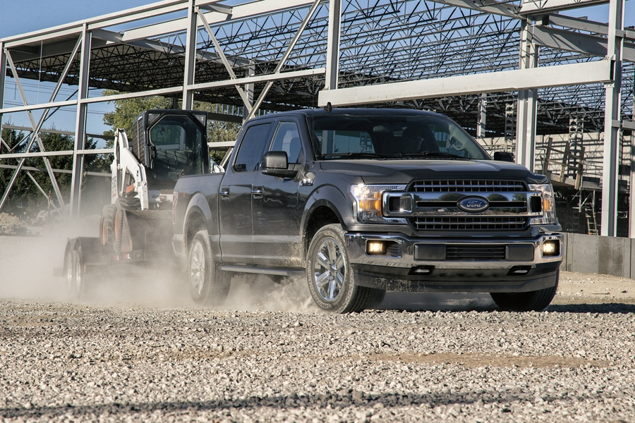 Ford F-150 2020 sur un chantier