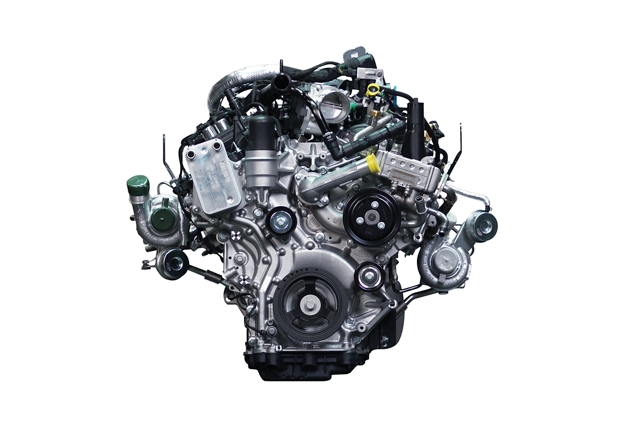 2 point 7 litre turbocharged EcoBoost engine