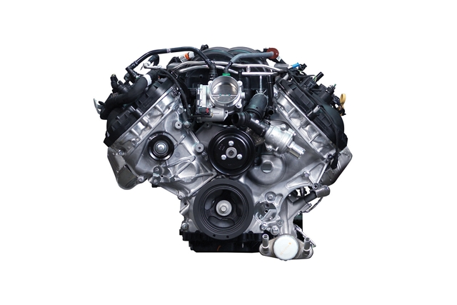 5 litre naturally aspirated V 8 engine