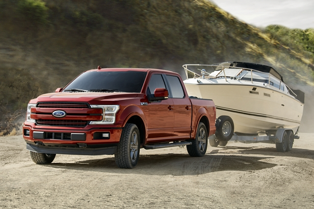 2020 Ford F 1 50 towing a boat