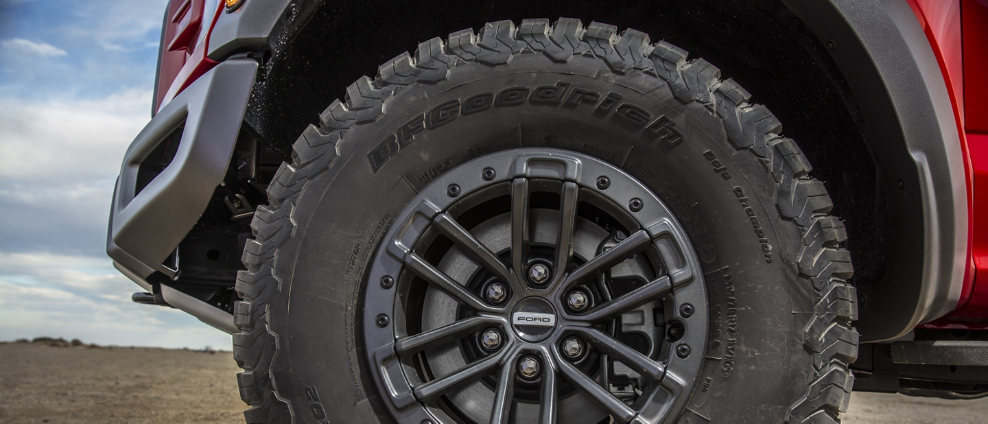 Jantes compatibles avec verrous de talon en option du Ford F-150 Raptor 2020