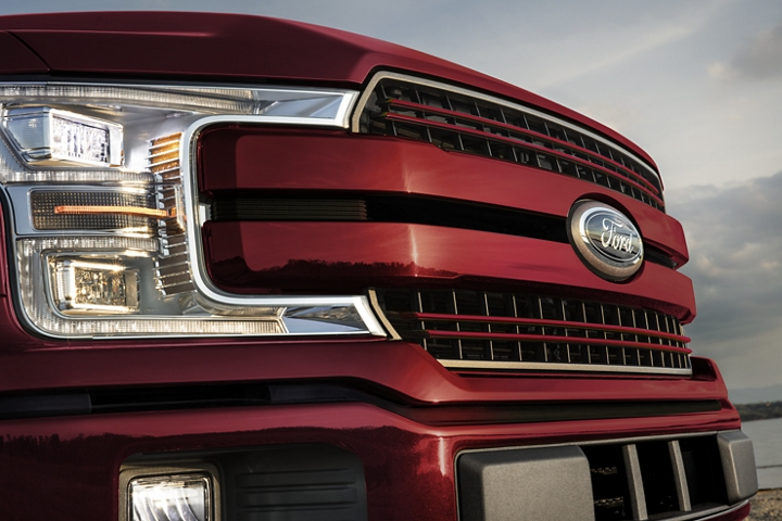 Grille of 2020 Ford F 1 50 LARIAT with Sport Appearance Package