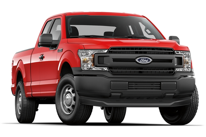Two bar style black grille on 2020 Ford F 1 50 X L