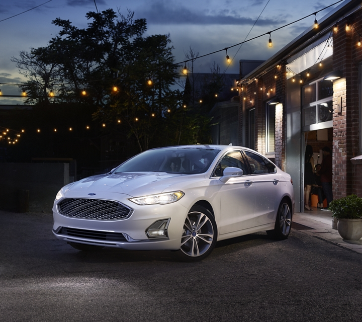 2020 Ford Fusion Titanium shown in Oxford White