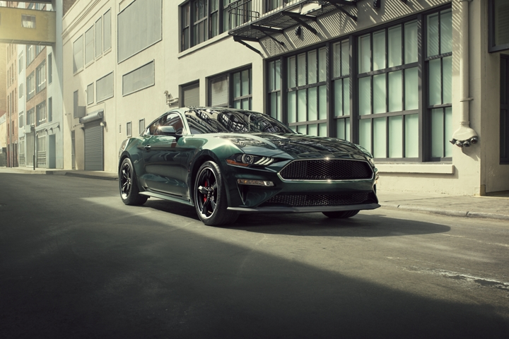 2020 Ford Mustang BULLITT parked in an alley