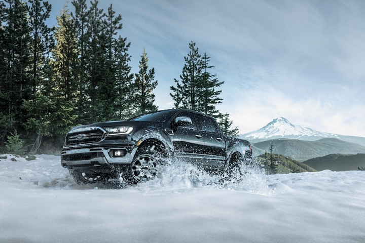 2019 Ford Ranger in snow covered off road country