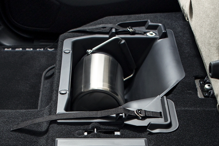 Under seat storage included in both SuperCab and SuperCrew models