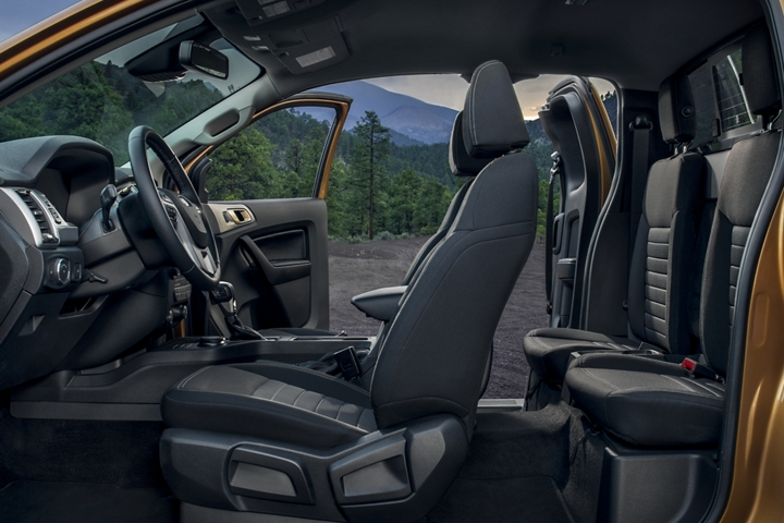 2019 Ford Ranger X L T interior with Sport Appearance Package