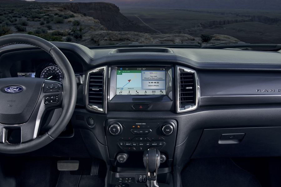SYNC 3 on eight inch centre dash screen of 2020 Ford Ranger