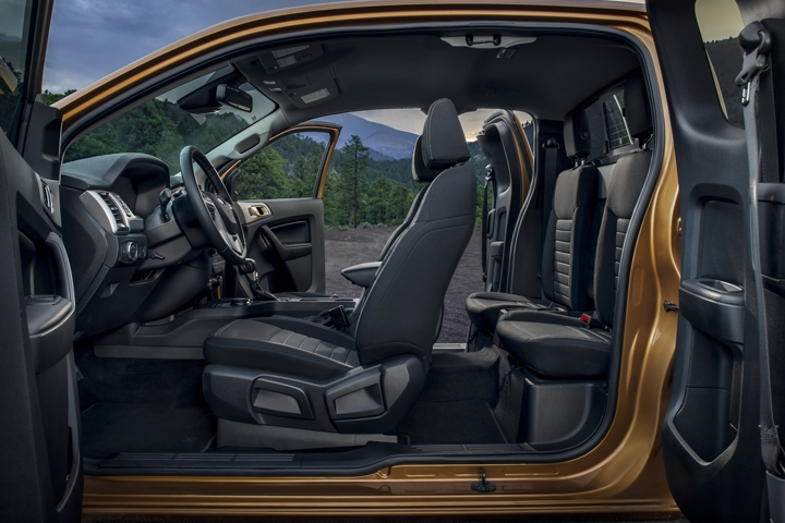 Spacious 2020 Ford Ranger X L T interior with Sport Appearance Package