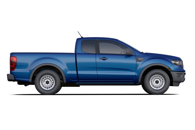 2020 Ford Ranger SuperCab model shown in Lightning Blue