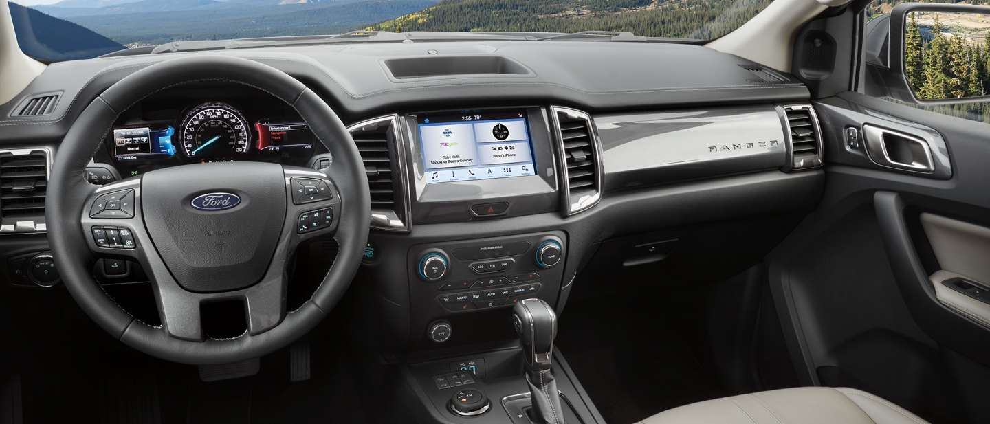 Interior view of a 2020 Ford Ranger