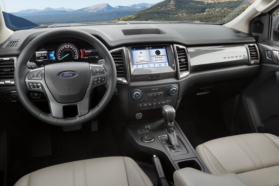 2020 Ford Ranger interior with available features