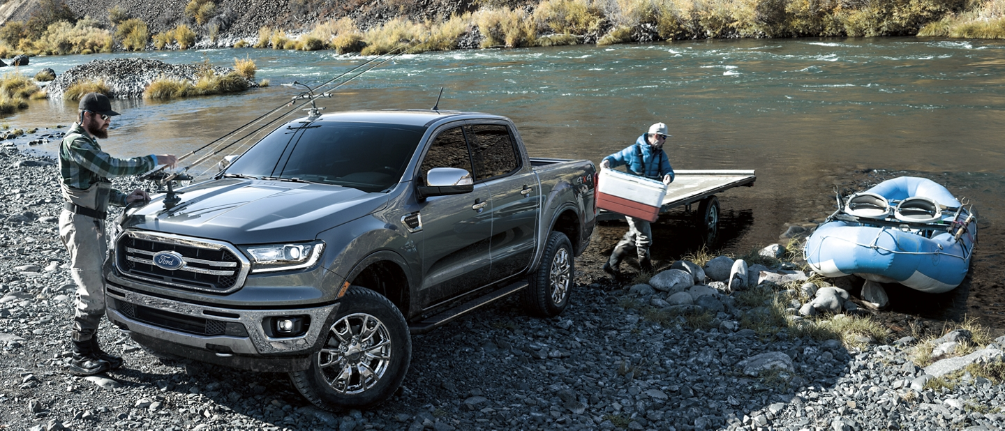 2020 Ford Ranger in Magnetic by a mountain stream