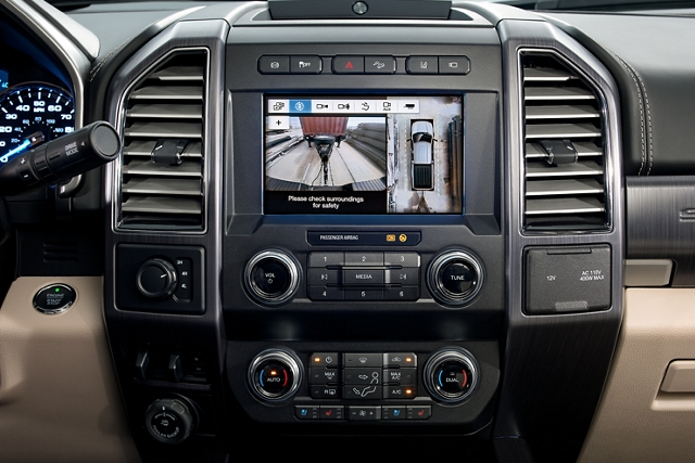 Camera display in centre dash screen