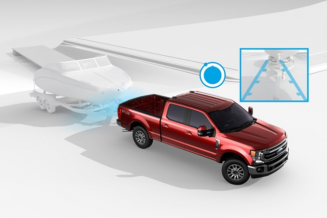 2020 Ford Super Duty illustration depicting the use of the pro trailer backup assist