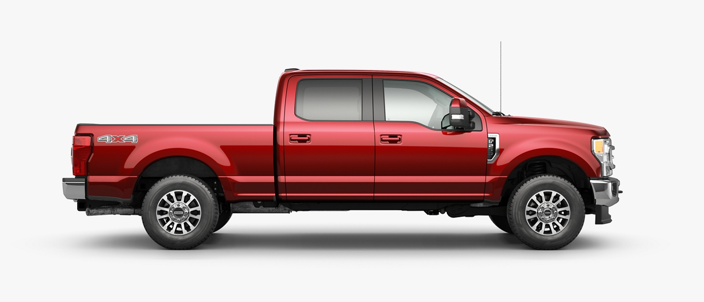 Le Ford Super Duty 2020 illustré en rouge rapide