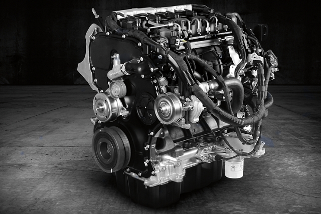 Image of the three point five litre P F D I V 6 engine