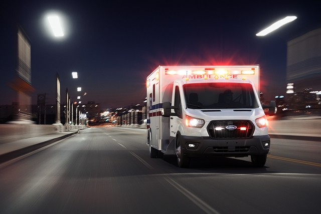 2020 Ford Transit with Type three ambulance body