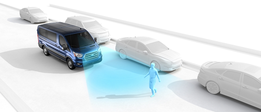 Illustration of Precollision Assist with Automatic Emergency Braking
