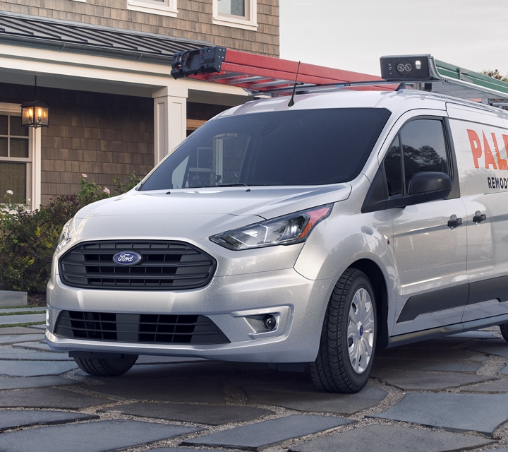 2020 Ford Transit Connect X L T Cargo Van in Silver
