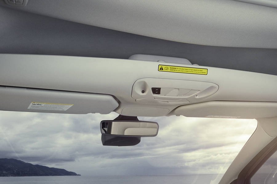 Overhead front storage shown in 2020 Ford Transit Connect Passenger Wagon
