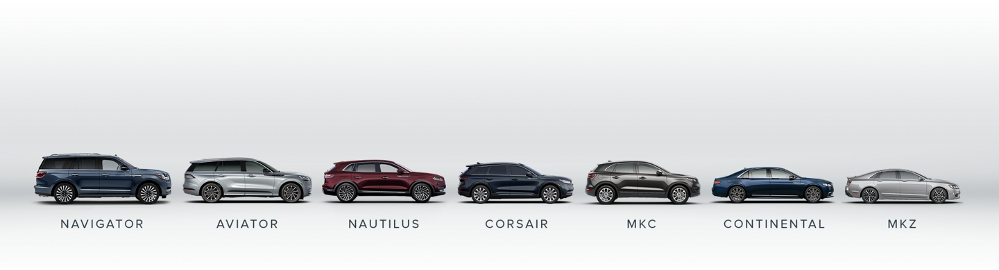 Lincoln Vehicle Line Up.