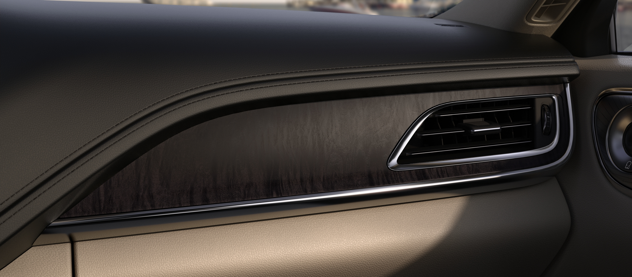 Espresso Ash Swirl wood appliques adorn the dash and other points throughout the cabin