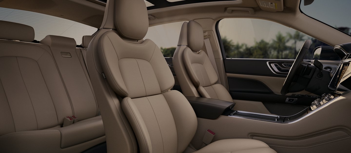 The available Perfect Position Seats with Active Motion seen in the Cappuccino interior colour