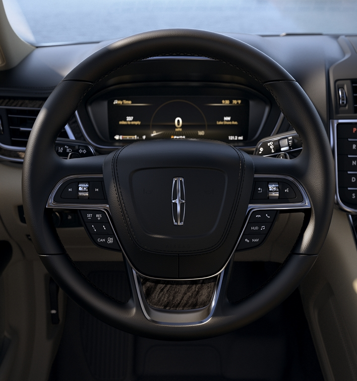 The steering wheel and the surrounding area put many controls at the drivers fingertips