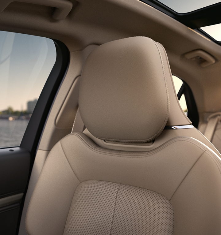 The front passenger seat shows off the inviting nature of the soft and supple available leather