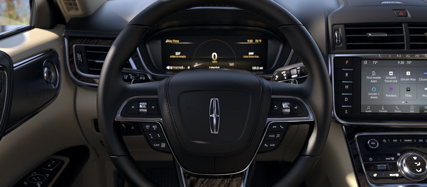 The area around the steering wheel shows how many controls are at the drivers fingertips