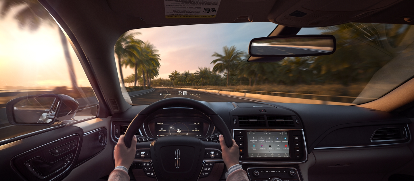 This shows how the available Head Up Display projects driver information on to the windshield