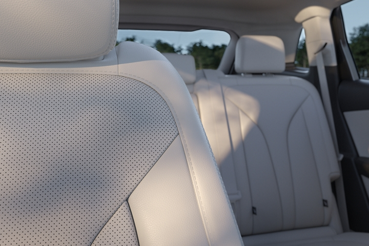 The 2020 Lincoln Nautilus is shown with the Cappuccino interior colour