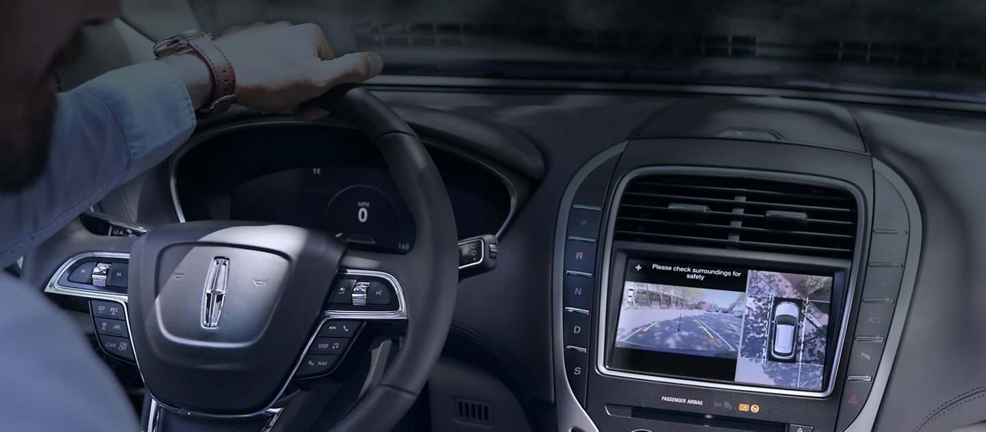 The centre touchscreen displays what is being captured by the three sixty degree camera