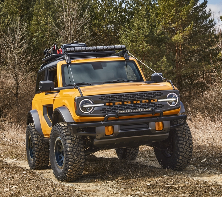 Kit protector de ramas disponible en la Ford Bronco 2021 con Propiedades de Diseño  en Cyber Orange Metallic
