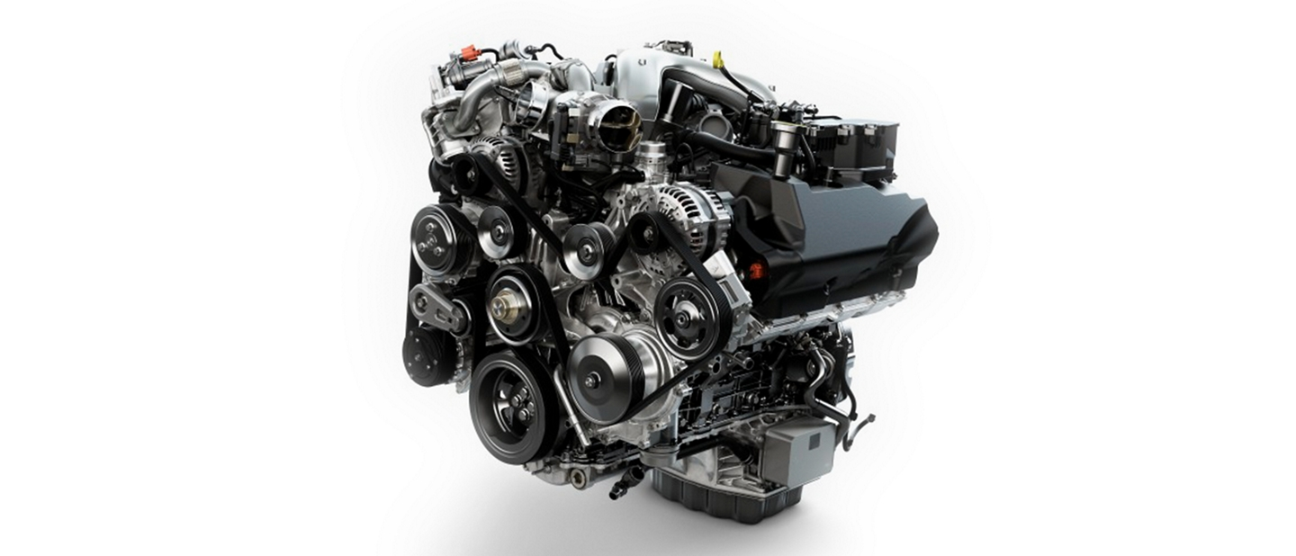Power Stroke 6 point 7 liter V 8 Turbo Diesel Engine