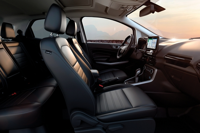 2019 Ford EcoSport with Ebony leather trimmed seating