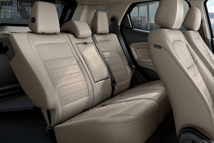 The 2019 Ford EcoSport Titanium with spacious second row seating in Medium Light Stone