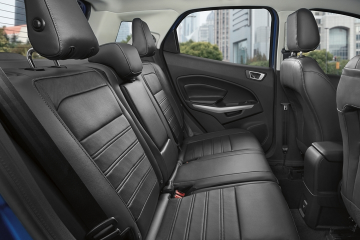 Interior view of the 2020 Ford EcoSport second row