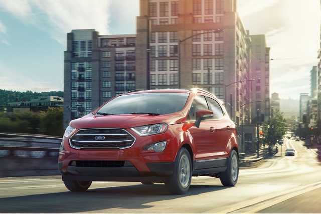 2020 Ford EcoSport being driven away from a city