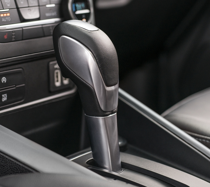 The 2020 Ford EcoSport S E S includes a leather wrapped gear shift knob for a sophisticated look and feel