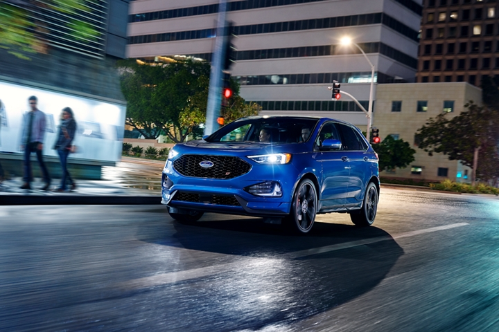 2020 Ford Edge S T on the road